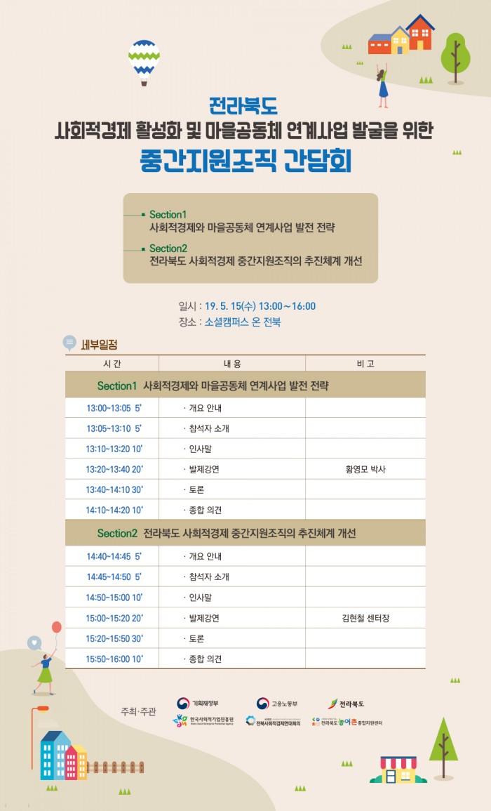 전라북도 사회적경제 활성화 및 마을공동체  연계사업 발굴을 위한 중간지원조직 간담회 개최